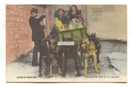 Laitières Flamandes Avec Attelage Voiture à Chiens Et Policier - Dairy Dog Cart & Policeman - Early Belgium Postcard - Andere