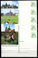 REPUBLIQUE FEDERALE ALLEMANDE - Ganzsache Michel P 134 - Série J5 Complète - Postales Ilustrados - Nuevos