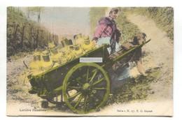 Laitières Flamandes Avec Attelage Voiture à Chiens - Dairy Dog Cart - Early Belgium Postcard - Andere