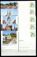 REPUBLIQUE FEDERALE ALLEMANDE - Ganzsache Michel P 134 - Série J6 Complète - Postales Ilustrados - Nuevos