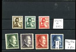 Deutsches Reich, Xx, 643-645, 799-802 - Nuovi