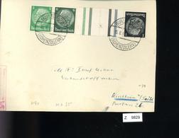 Deutsches Reich, Briefstück Aus Gebrauchspost Mit Zusammendruck: KZ 35, W 91 - Se-Tenant