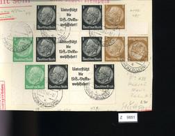 Deutsches Reich, Briefstück Aus Gebrauchspost Mit Zusammendruck: W 91, W 95, W 59, K 22, W 92 - Se-Tenant
