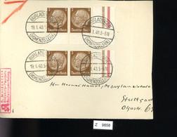 Deutsches Reich, Briefstück Aus Gebrauchspost Mit Zusammendruck: 2 X 512 + 512 + Z - Se-Tenant
