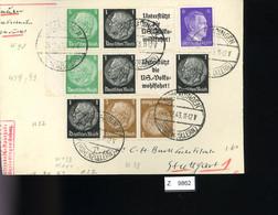 Deutsches Reich, Briefstück Aus Gebrauchspost Mit Zusammendruck: W 59, W 90, W 93, KZ 22 - Se-Tenant