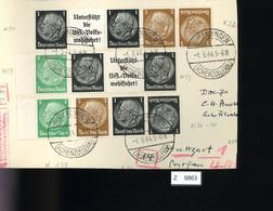 Deutsches Reich, Briefstück Aus Gebrauchspost Mit Zusammendruck: W 59, W 90, W 93, KZ 21, K22 - Se-Tenant