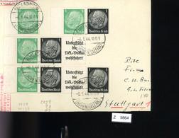 Deutsches Reich, Briefstück Aus Gebrauchspost Mit Zusammendruck: W 59, W 90, W 93 - Se-Tenant