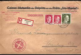RECOMMANDÉ EN PROVENANCE DE MULHOUSE - CENSURE - 1942 - Alsace Lorraine