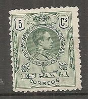 ESP 1909- Yv. N° 243   (*)  5c  Vert    Aphonse XIII Cote  2  Euro BE  2 Scans - Nuevos