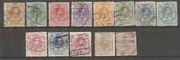 ESP 1909- Yv. N° 242 à 252, 255,256   Série 2c à 1p     Aphonse XIII Cote  3,3  Euro BE - Oblitérés