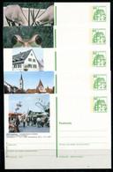 REPUBLIQUE FEDERALE ALLEMANDE - Ganzsache Michel P 134 - Série J7 Complète - Postales Ilustrados - Nuevos