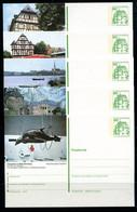 REPUBLIQUE FEDERALE ALLEMANDE - Ganzsache Michel P 134 - Série J10 Complète - Postales Ilustrados - Nuevos