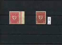 Deutsches Reich, 199 B, Xx, Bogenrand Rechts, Mit Vergleichsstück - Nuovi