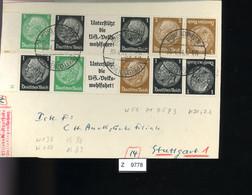 Deutsches Reich, Briefstück Aus Gebrauchspost Mit Zusammendruck: W 59, W 71, W 75, W 93, K 21, K22 - Se-Tenant
