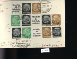 Deutsches Reich, Briefstück Aus Gebrauchspost Mit Zusammendruck: W 94, W 59, W 94, W 71, W 76 - Se-Tenant