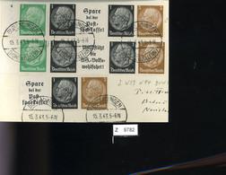 Deutsches Reich, Briefstück Aus Gebrauchspost Mit Zusammendruck: W 59, W 94,W 92 - Se-Tenant