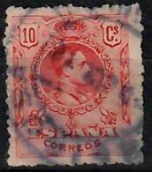 1909-22 Alfonso XIII. Tipo Medallón 10 C. Ed 269 / Sc 299 / YT 244 / Mi 233Aa Usado / Used  / Oblitéré / Gestempelt - Oblitérés