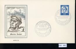 Berlin, FDC, 5 Lose U.a. 1961, Mi.-Nr. 203 - FDC: Buste