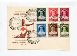 1953 Prinses JOSEPHINE CHARLOTTE - Uitgifte Van RODE KRUIS BELGIE - CROIX ROUGE - Met Zegel En Speciale Afstempeling - Cartas