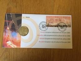 Belgique : N°2882\4 (Bruxelles Et Culture) Sur Numislettre (timbres + Médaille) - Numisletters