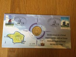 Belgique : N°3091\2 (moulins) Sur Numislettre (timbres + Médaille) - Numisletters