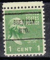 USA Precancel Vorausentwertung Preo, Locals Wyoming, Sheridan 713 - Precancels