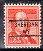 USA Precancel Vorausentwertung Preo, Locals Wyoming, Sheridan 841 - Precancels
