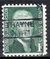 USA Precancel Vorausentwertung Preo, Locals Wyoming, Thayne 835.5 - Preobliterati
