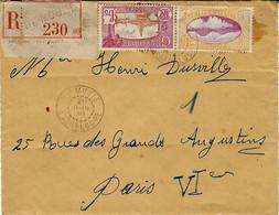 1938- Enveloppe RECC. De LE MOULE  Affr. à2,15 F.  Pour Paris - Lettres & Documents