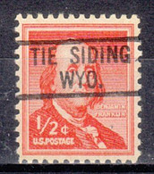 USA Precancel Vorausentwertung Preo, Locals Wyoming, The Siding 819 - Precancels