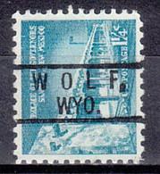 USA Precancel Vorausentwertung Preo, Locals Wyoming, Wolf 801 - Precancels