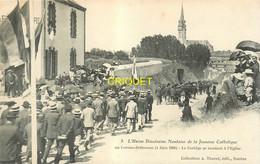 44 Le Loroux-Bottereau, Union Diocésaine Nantaise De La Jeunesse Catholique, 1906, Cortège Allant à L'Eglise - Sonstige Gemeinden