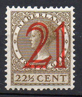 1929 Paesi Bassi Regina Sovrastampato N. 222 Integro - MNH** - Unused Stamps