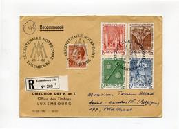 28-4-66 TRICENTENAIRE NOTRE DAME LUXEMBOURG - Enveloppe P Et T  Recommandé Avec 5 Timbres - Briefe U. Dokumente