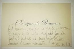 FÉLIX RODER - Évêque De Beauvais - De 1937 à 1955 - Autographs