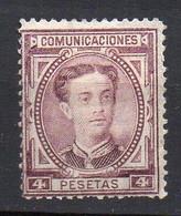 1876 Spagna Re Alfonso N. 170 Bruno Lilla Unificato Nuovo MLH* - Nuevos