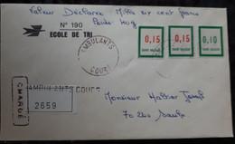 """PMo - 1958 Formation En Centre D'INSTRUCTION Des PTT """"ECOLE DE TRI"""" Timbre N° F141 X 2 Et F142. TTR (Lurcy Lévis) - Finti"""