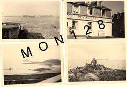 BRETAGNE-SAINT MALO 1955  PLAGE REMPARTS HOTEL PORTE ST PIERRE HOTEL DE LA PISCINE- 8 PHOTOS DE FAMILLE 12,5X8,5 Cms - Luoghi
