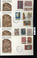 BM2491, Zypern. O, 1971, 4 FDC, 345-358 - Briefe U. Dokumente