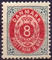 DENEMARKEN 1875-1905 8öre Klein Ovaal Tanding 12¾ PF-MNH - Ungebraucht