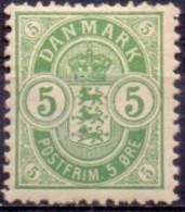 DENEMARKEN 1895-02 5öre Wapentype Tanding 12¾ PF-MNH - Ungebraucht
