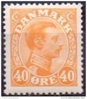 DENEMARKEN 1913-1925 40öre Oranjegeel Christian X PF-MNH - Nuevos
