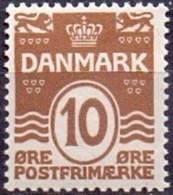 DENEMARKEN 1913-30 10öre Golflijn WM Kruis Tanding 14x14½ PF-MNH - Nuevos