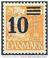 DENEMARKEN 1934-40 Opdrukken 10/30õre Oranje PF-MNH-NEUF - Nuevos
