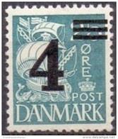 DENEMARKEN 1934-40 Opdruk 4 Op 25öre Blauw PF-MNH - Nuevos