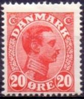 DENEMARKEN 1913-1925 20öre Rood Christian X PF-MNH - Nuevos
