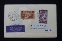 FRANCE - Lettre Tour Du Monde Par Avion En 1937 Avec Escales Dont Hong Kong Affranchissement Avec Pont Du Gard - L 89310 - Luchtpost