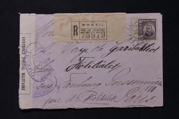 BRÉSIL - Enveloppe En Recommandé De Buenos Aires Pour La France En 1916 Avec Contrôle Postal Français 372 - L 89313 - Cartas