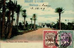 RARE KHARTOUM THE PALACE AND GORDON STATUE - Sudan