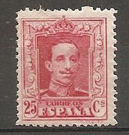 ESP 1922- Yv. N° 279 Type I  *  25c  Carmin   Aphonse XIII Cote  5  Euro BE   2 Scans - Nuevos